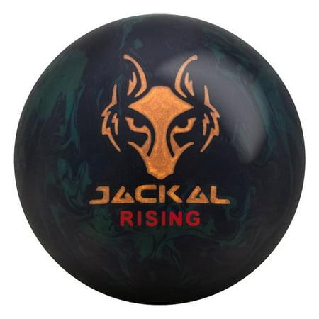 Motiv Jackal Rising Bowling Ball- Black/Emerald (15lbs) ()