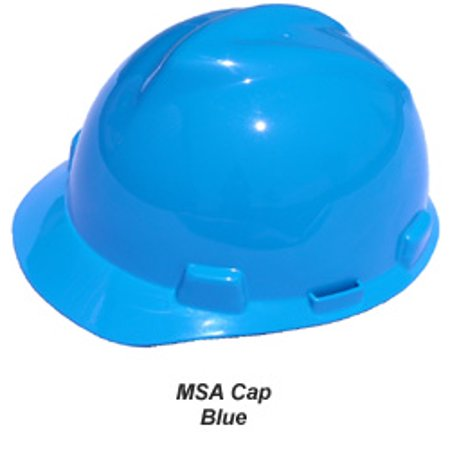 e7e6bda7ea0f87 MSA Jumbo Large Size V-Gard hard hats with pin lock suspensions, blue -  Walmart.com