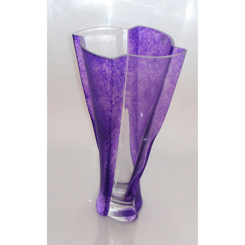 Womar Glass Wavy Indigo Series Vase