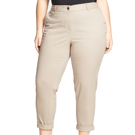 287a9c20361 Sejour - Sejour NEW Beige Women s 14W Plus Straight-Leg Ankle Dress Pants -  Walmart.com