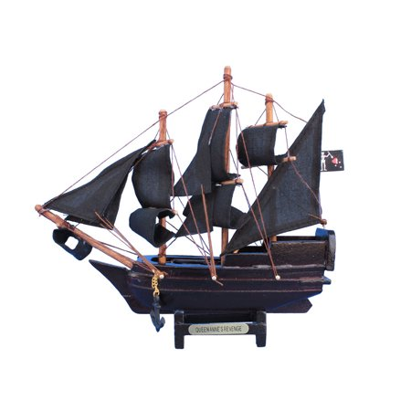 Blackbeards Queen Annes Revenge 7 Wood Pirate Toy Ship Pirate Ship For Kids Blackbeard The Pirate Ship Model Pirates Of The Caribbean Mod