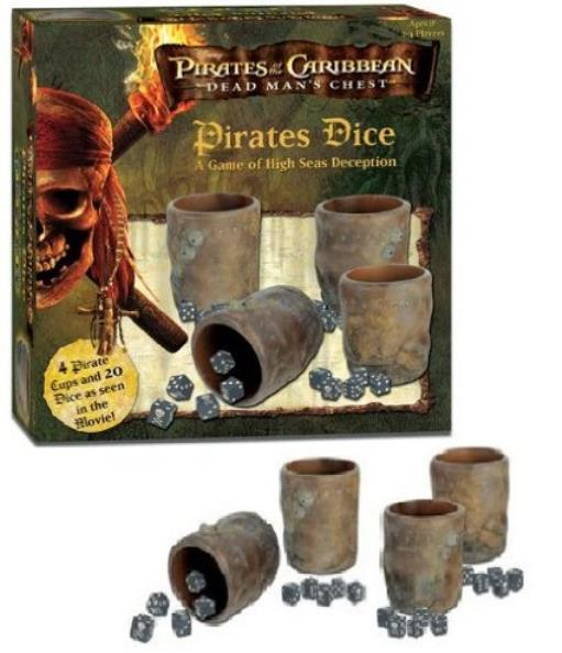 10 Replacement Dice Pirates of the Caribbean Dead Man/'s Chest Dice Game