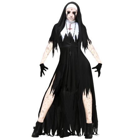 Women's Dreadful Nun Costume - Cheap Nun Costumes