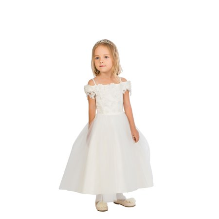 Efavormart Enticing Off the Shoulder Tulle Dress Birthday Girl Dress Junior Flower Girl Wedding Party Gown Girls Dress For Wedding](Birthday Dresses For Girls)