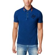 Sean John Mens Denim Rugby Polo Shirt