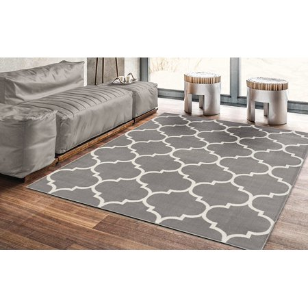 Ottomanson Royal Collection Contemporary Moroccan Trellis Design Area Rug, 5