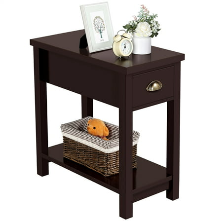 Yaheetech Side Table End Table Night Stand Bedside Table Storage Cabinet Night Stand with Drawer