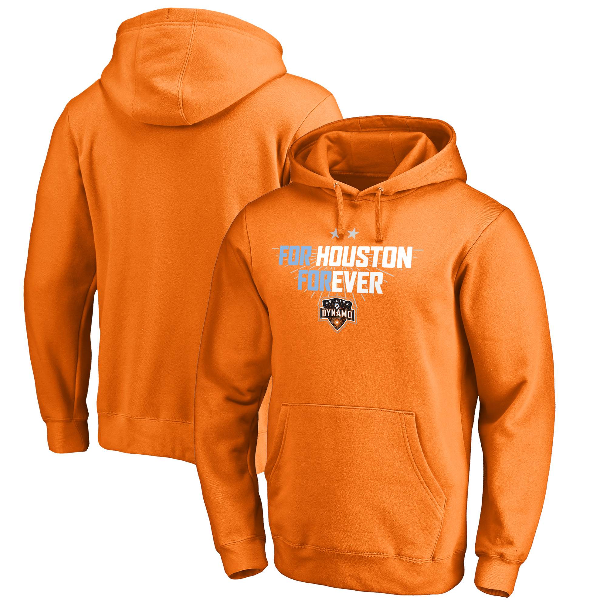 Houston Dynamo Fanatics Branded For Houston Pullover Hoodie - Tenn Orange