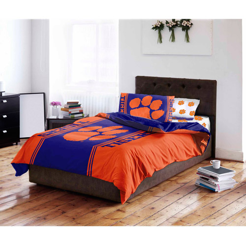 NCAA Clemson University Tigers Bed in a Bag Complete Bedding Set