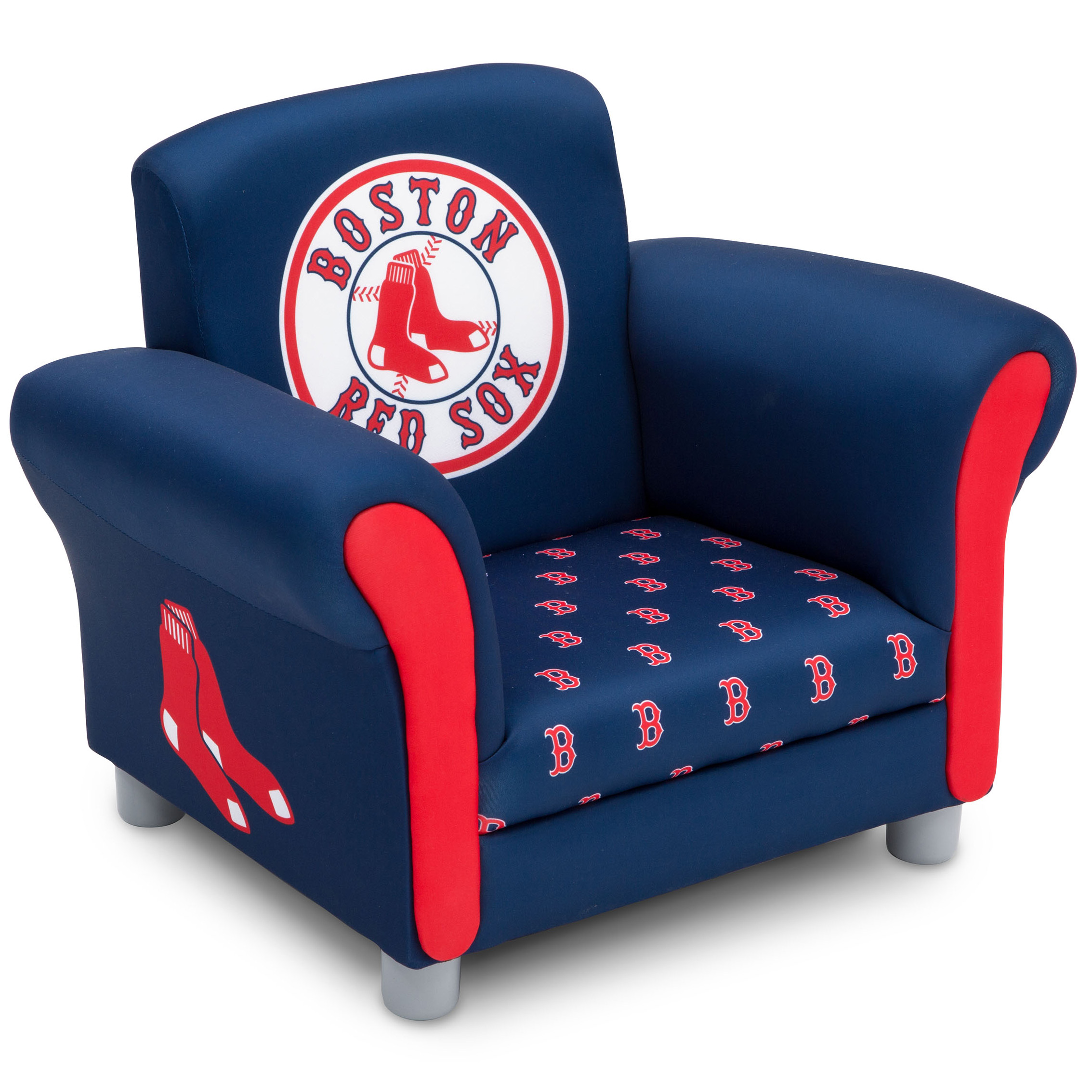 MLB Boston Red Sox Kids Upholstered Chair by Delta Children