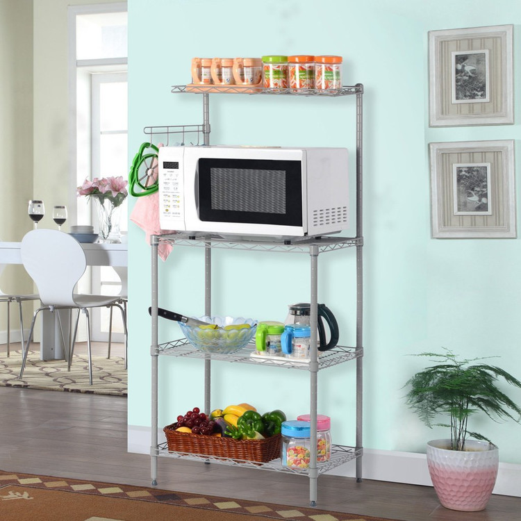 Microwave Oven Stand With Wheel 3 Tier Removable Kitchen Bakeru0027s Rack Microwave  Oven Stand Household