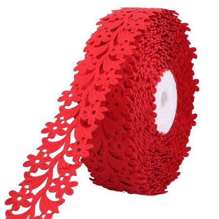 Wedding Polyester Cake Packing Decor Ornament Ribbon Roll Red 20 Yards Length