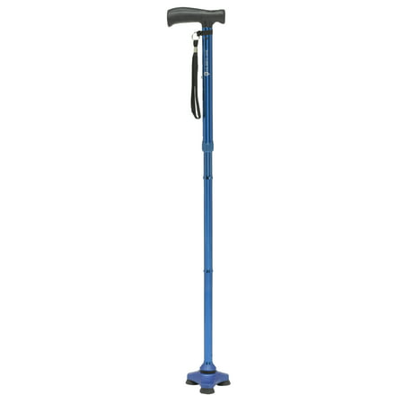 HurryCane Freedom Edition Folding Cane with T Handle, Blue