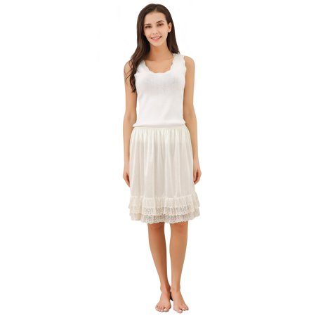 - Richie House Women's Light Skirt with Lace RHW2810