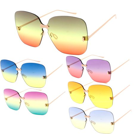 MLC Eyewear Butterfly Frame Candy Lens 70s Retro Fashion Sunglasses](70s Candy)