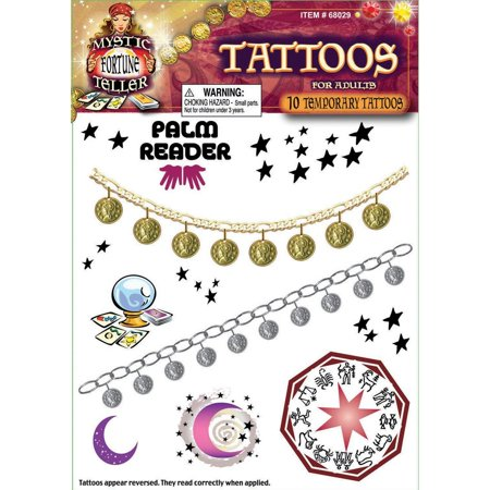 Halloween Fortune Teller Tattoos (Fortune Teller Halloween)