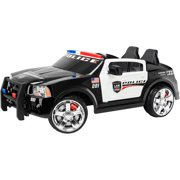 kid trax dodge pursuit police car 12 volt battery powered ride on image