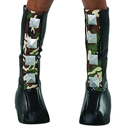Rubie's Costume Drama Queens Spiked Camouflage Boot (Drama Queens Rockin' Out Witch Costume)