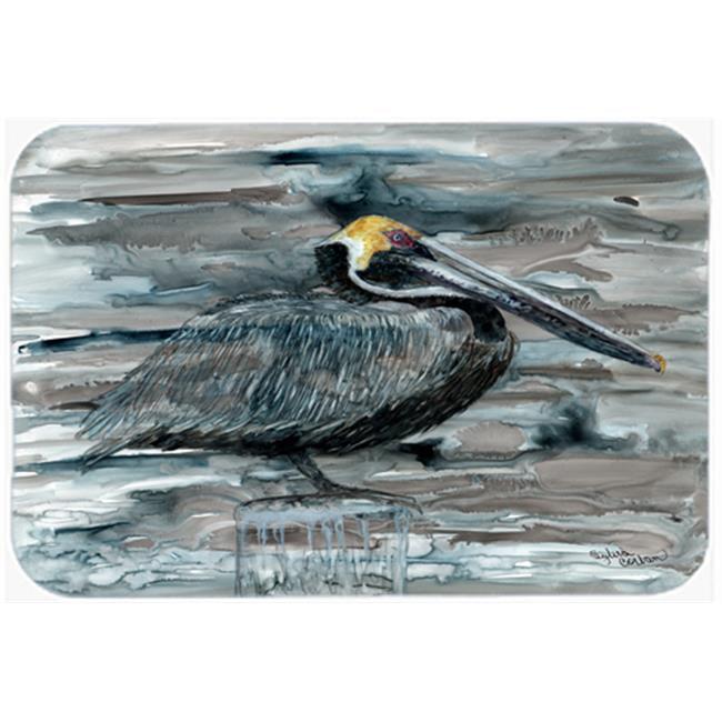 Pelican In Grey Mouse Pad, Hot Pad & Trivet