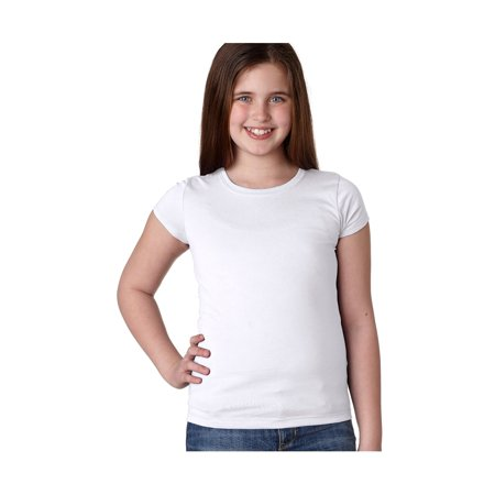 Next Level Big Girl's Princess Rib Knit Softness T-Shirt, Style NL3710](Kids Back To School Clothes)