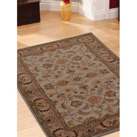 Ivory Tufted Rug (Rugsotic Carpets Hand Tufted Wool 6'x9' Area Rug Oriental Beige Ivory K0BG09 )