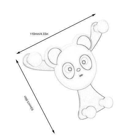Panda Bear Car Phone Holder Air Outlet Mount Bracket Gravity Sensing Stand - image 3 of 8