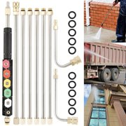 Gutter Cleaning Tool Pressure Washer - The Extension Wands, Roof Cleaner Lance Nozzle - 4000 Psi, Window Washing Accessories, Power Washer - As Shown In Figure Set In A Package