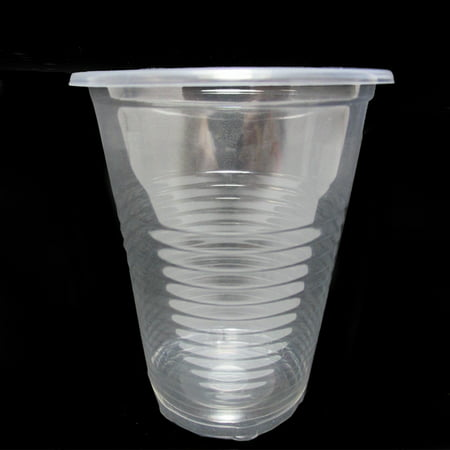 Bar Cup (100 x Disposable Clear Plastic Cups 7oz Heavy Duty Drink Party Bar Office)
