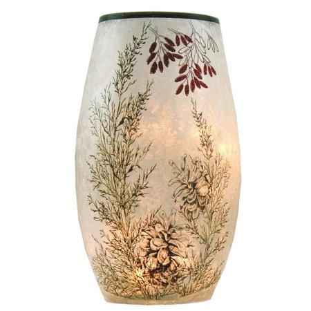"Stony Creek Lighted Glass Vase, Pinecone, 4.25"" x 4.25"" x 7"""