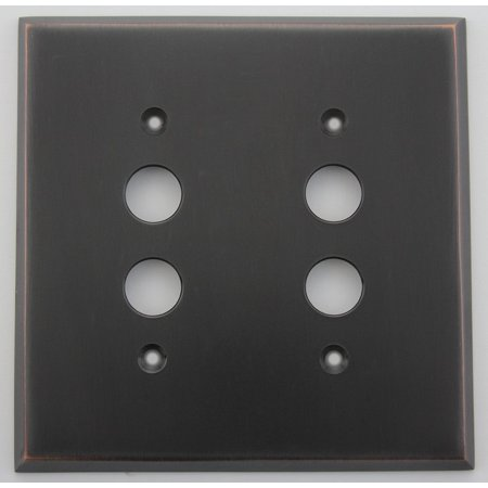 Classic Accents Oil Rubbed Bronze 2 Gang Push Button Light Switch Switchplate Push Button Light Switch