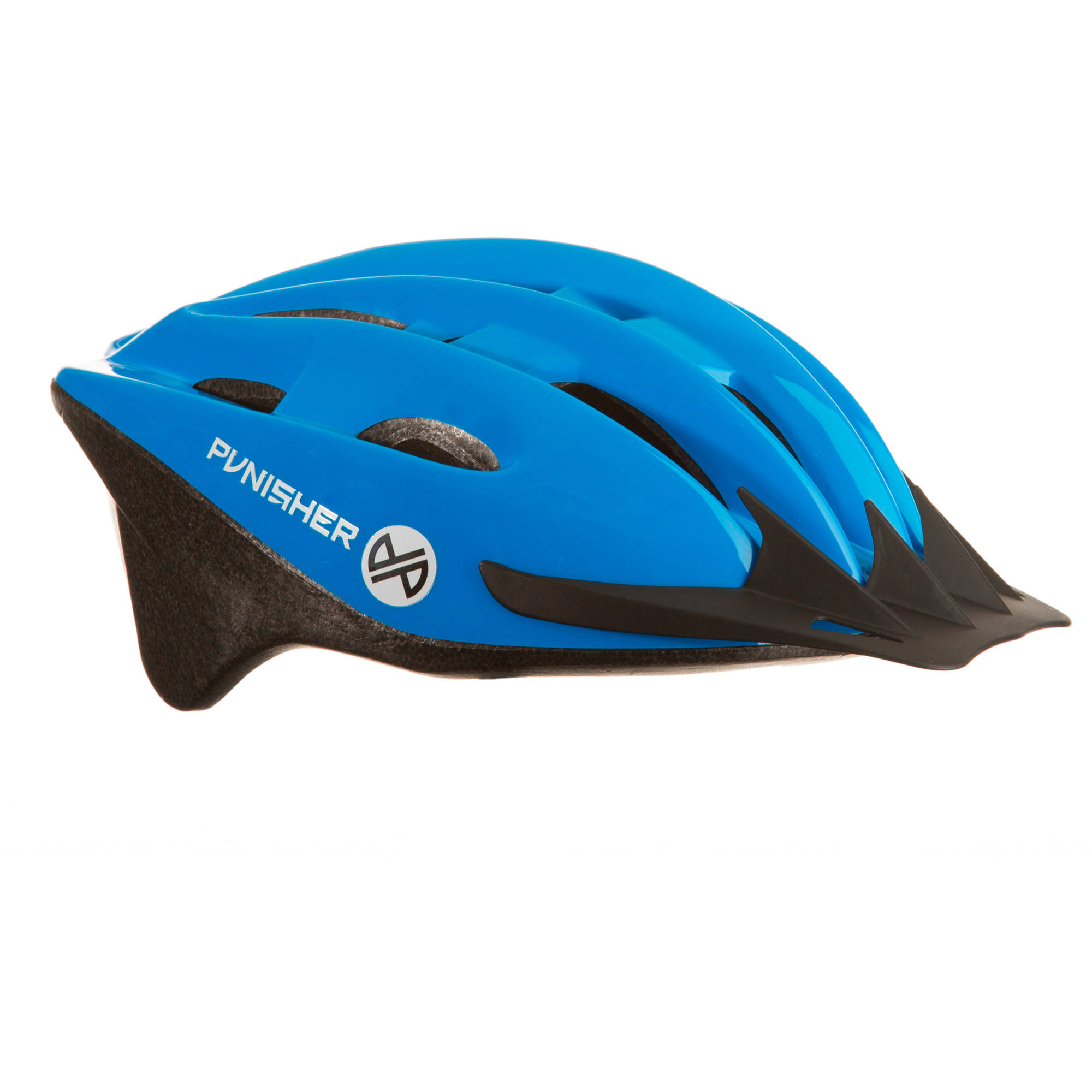 Punisher 18-Vent Adult Cycling Helmet with Imitation In-Mold, Blue, Ages 12+