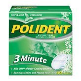 Polident Denture - Polident 3 Minute Antibacterial Denture Cleanser 40 Tabs