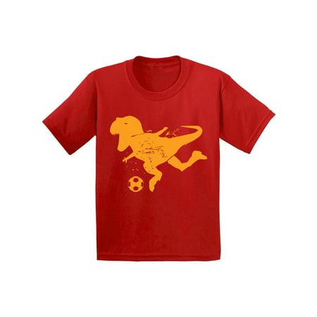 Awkward Styles Soccer Dinosaur Toddler Shirt Dinosaur Shirt for Toddler Boy Soccer Fans Soccer Outfit for Toddler Girl Soccer Shirt for Kids Dinosaur Gifts for Toddler Soccer T Shirt Sports - Core Boys Soccer Shirt