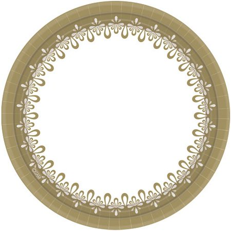 Hanna K Everyday Ensembles Paper Plates, Round, 10
