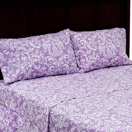 Better Homes And Gardens Damask 250 Thread Count Percale Sheet Set