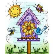 "Whipper Snapper Cling Stamp 4""X6""-Summer Birdhouse"