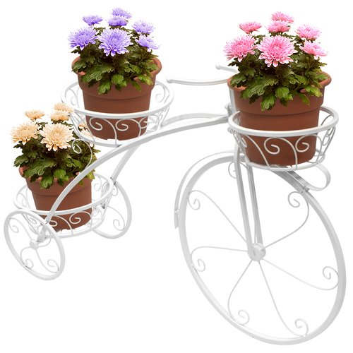 Sorbus Tricycle Plant Stand Flower Pot Cart Holder, Parisian Style by GGI International
