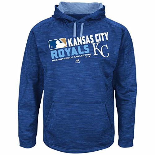 MLB Men's Big and Tall On-Field Team Choice Streak Therma Base Fleece Hoodie (4XT, Kansas City Royals) by Profile