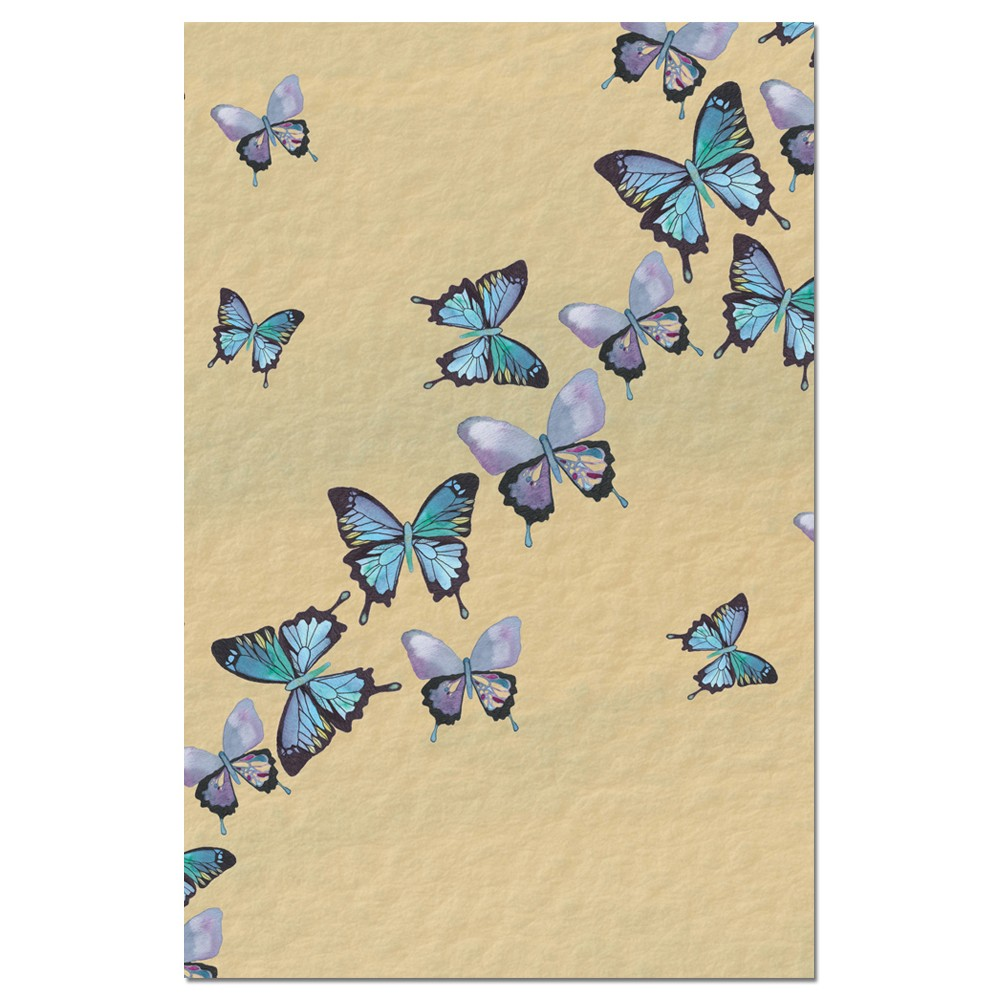 Tree-Free Greetings Blue Butterflies in Flight Boxed ECOnotes Blank Note Cards-FS66475