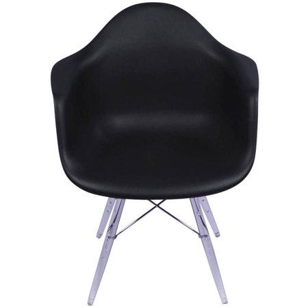 eames arm chair with clear legs