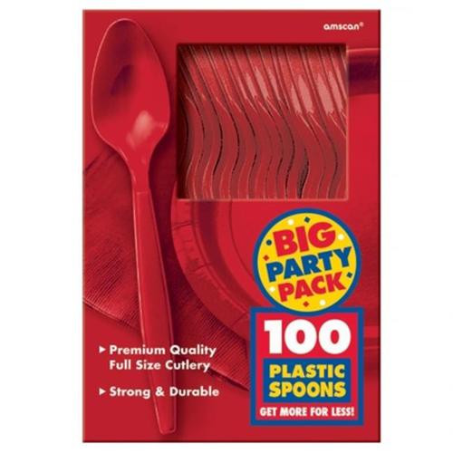 Apple Red Big Party Pack - Spoons