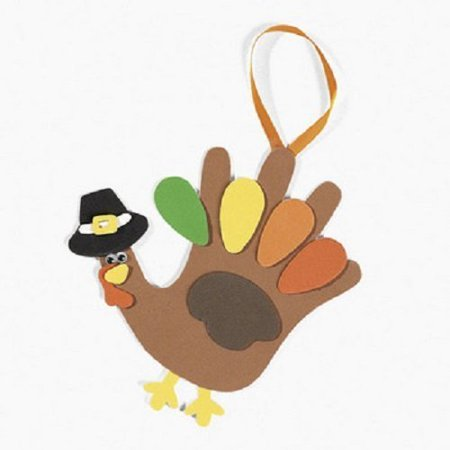 Thanksgiving Craft For Kids (Lot of 12 Foam Handprint Turkey Craft Kit Thanksgiving Kids School)