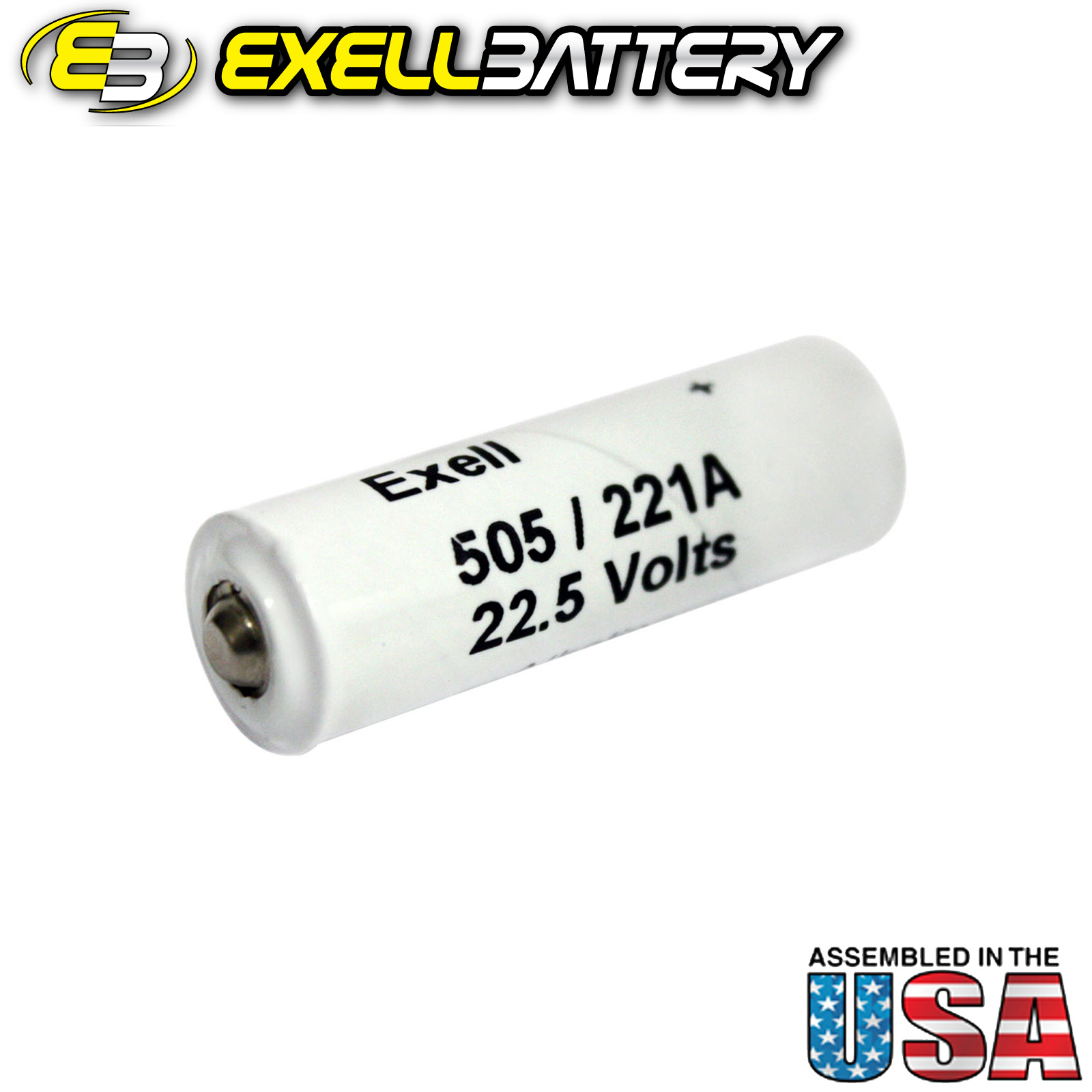 Exell Alkaline Battery A221/505A Replaces NEDA 221 Eveready 505