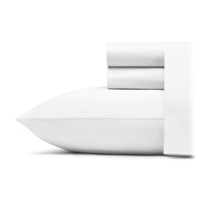 Poppy Amp Fritz Solid White Sheet Set Queen Walmart Com