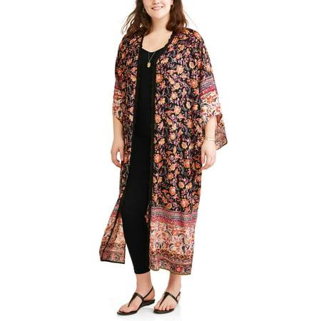 Gypsy Maxi - Romantic Gypsy Women's Plus Snapdragon Maxi Kimono