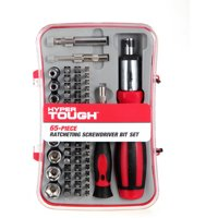 Hyper Tough 65 Piece Ratcheting Screwdriver Set w/ Case