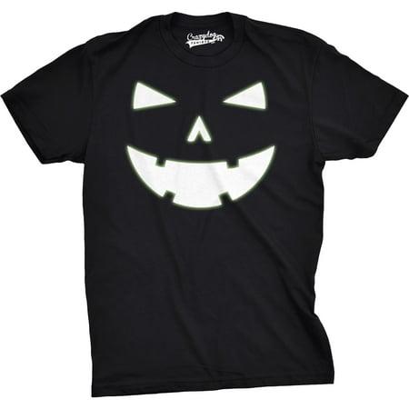 Mens Happy Tooth Glowing Pumpkin Face Glow In The Dark Halloween - Happy Halloween Memes 2017