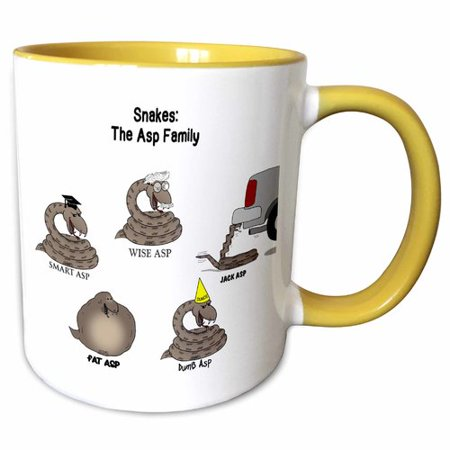 Symple Stuff Lazarus Out To Lunch Cartoon Snakes The Asp Family Dumb Fat Smart Jack Wise Coffee Mug