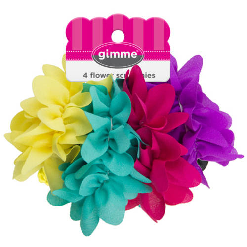 Gimme Flower Scrunchies, 4 count