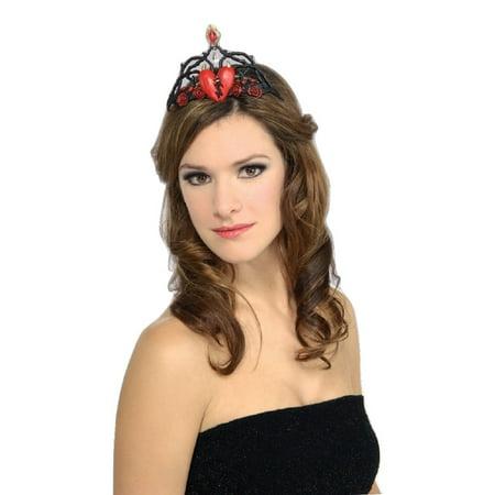 Queen of Broken Hearts Heart Tiara Crown Hat Adult Womens Costume Accessory - King Of Hearts Crown
